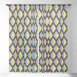 Abstract [RAINBOW] Emeralds pattern Sheer Curtain