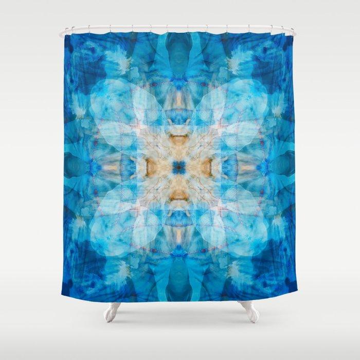 I Dream in Blue Shower Curtain