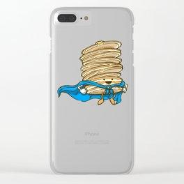 Captain Pancake Descends Clear iPhone Case