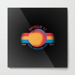 Apollo11 Moon Landing 50th Anniversary 2 Metal Print