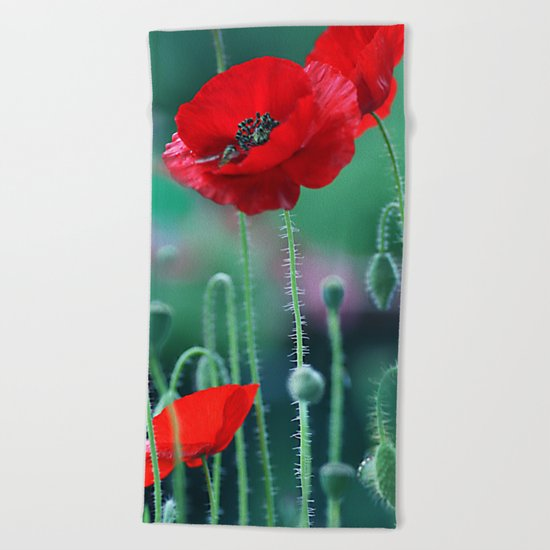 Poppies (light)2. Beach Towel