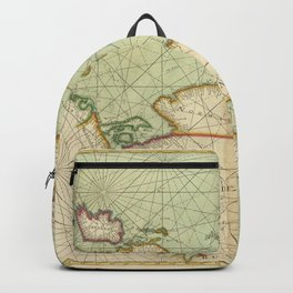 A Generall chart of the NORTHERN SEAS. Describing the sea coast and Islands from France to Greene land Backpack