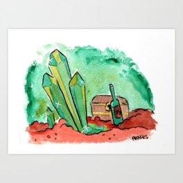 Crystal Loot Art Print