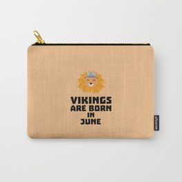 Vikings are born in June T-Shirt Dni2i Carry-All Pouch