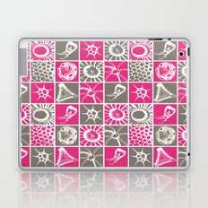 Microscopic Life Sillouetts Pink and Gray Laptop & iPad Skin