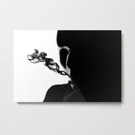 Masked Smoke Metal Print