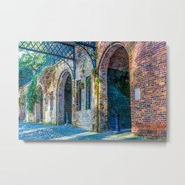 Old Brick Arches Metal Print