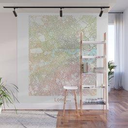 London Watercolor Map Art by Zouzounio Art Wall Mural