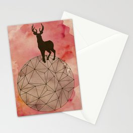 Deer on top of the world Stationery Cards