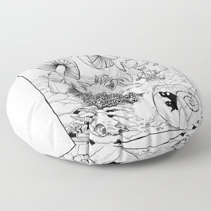 Hamster In Wonderland Floor Pillow