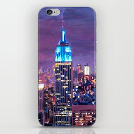 Empire State Building Feeling Like A Blue Giant iPhone Skin