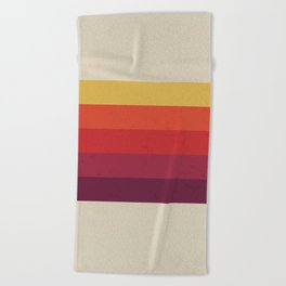 Retro Video Cassette Color Palette Beach Towel