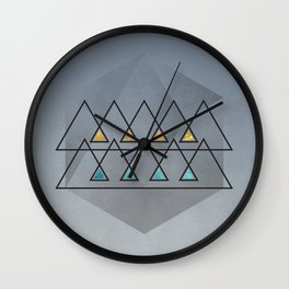Isfahan Blue with a touch of Gold Wall Clock