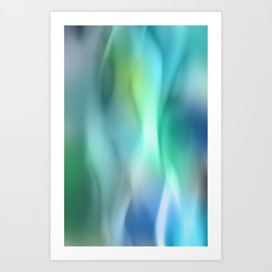 Blue Flame Art Print