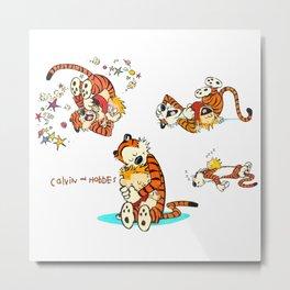 Calvin and Hobbes all Metal Print