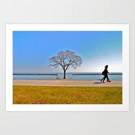 walk and talk Art Print