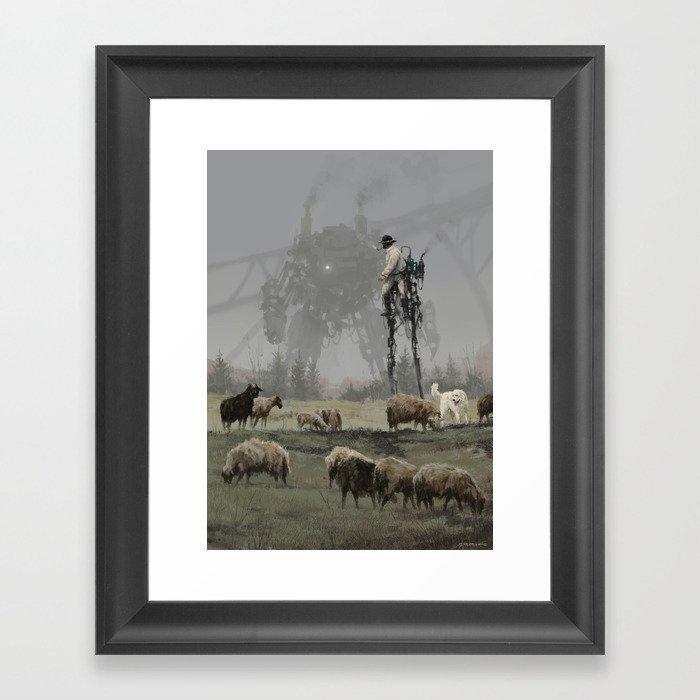 1920 - shepherd Gerahmter Kunstdruck