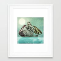 voyage Framed Art Prints featuring The Voyage by Eric Fan