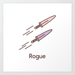 Cute Dungeons and Dragons Rogue class Art Print