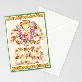 Plumeria Lei Shirt Stationery Cards