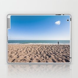 A woman and her cloud (Irish beach) Laptop & iPad Skin