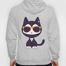 Cute kitten in sunglasses Hoody