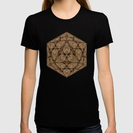 D20 Henna Icosahedron T-shirt
