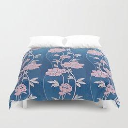 Rose Quartz Flower Garlands Duvet Cover