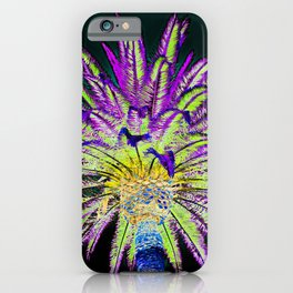 Neon Palm Tree iPhone Case