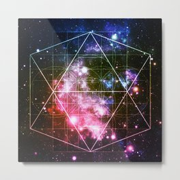 Rainbow Galaxy Sacred Geometry : Golden Rectangles Metal Print