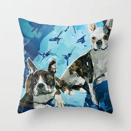 Ava and Evi  Throw Pillow