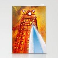 dalek Stationery Cards featuring Dalek by Tony DaBronzo