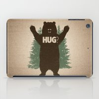 hug iPad Cases featuring Bear Hug by powerpig