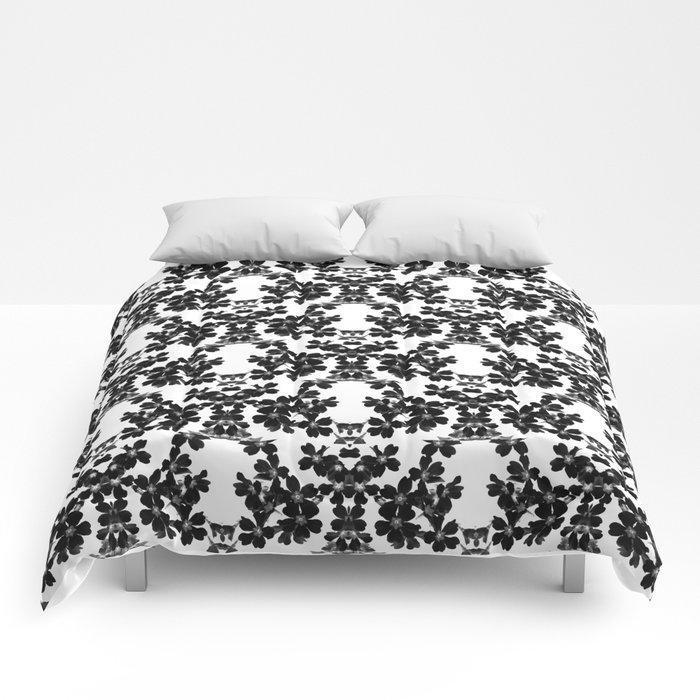 primrose bw pattern Comforters