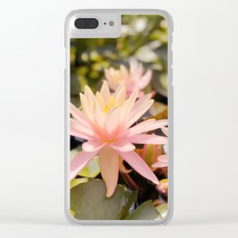Pink Water Lily Clear iPhone Case