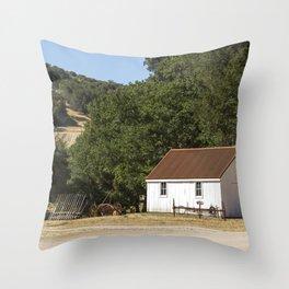 Wine Country Farm Throw Pillow