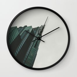 a view from a down below Wall Clock
