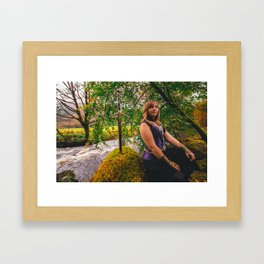 Sword, She & Stone Framed Art Print