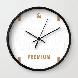 Genuine-Fabricator-T-shirt-Gift Wall Clock