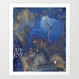 Get Cozy Botanical Abstract Art Print