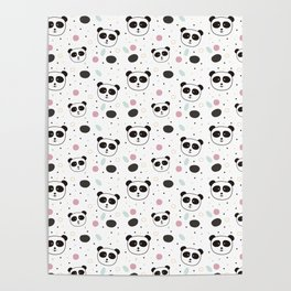 Pandas pattern Poster