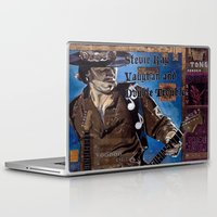 stevie nicks Laptop & iPad Skins featuring Stevie Ray Vaughan by Ray Stephenson