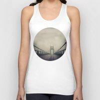 marc johns Tank Tops featuring St. Johns Bridge by Leah Flores