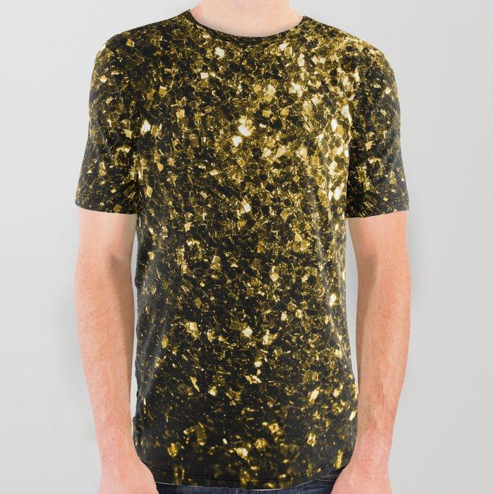 Beautiful Yellow Gold sparkles All Over Graphic Tee
