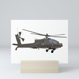 AH-64 Apache Helicopter Mini Art Print