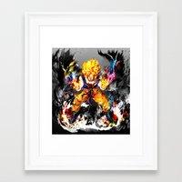goku Framed Art Prints featuring Goku by ururuty