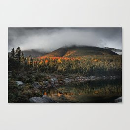 Mount Katahdin in Clouds Canvas Print