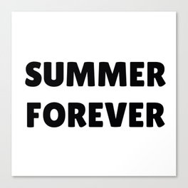 Summer Forever in Black Canvas Print
