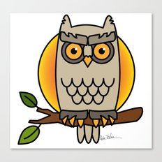 Owl in a Circle Canvas Print