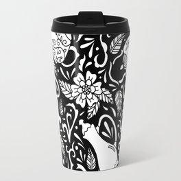 Tea Time Black and White Travel Mug